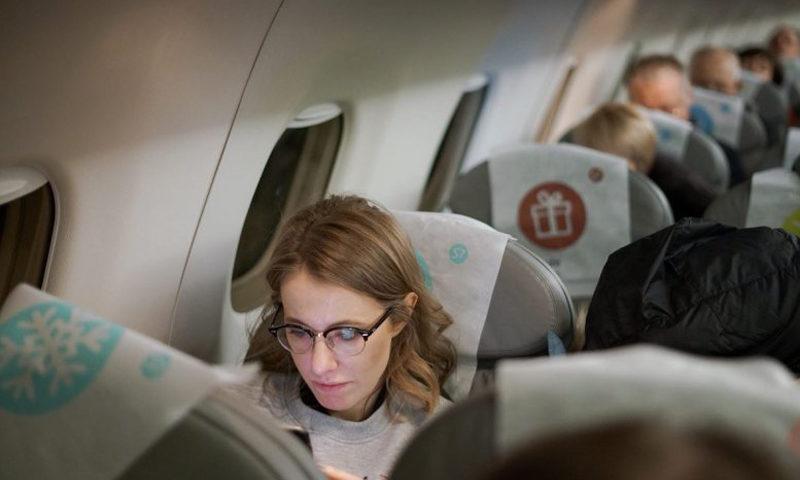 Собчак в самолете